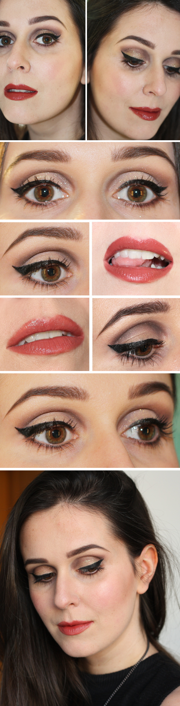 make up tutorial: vampy cat eye with defined crease