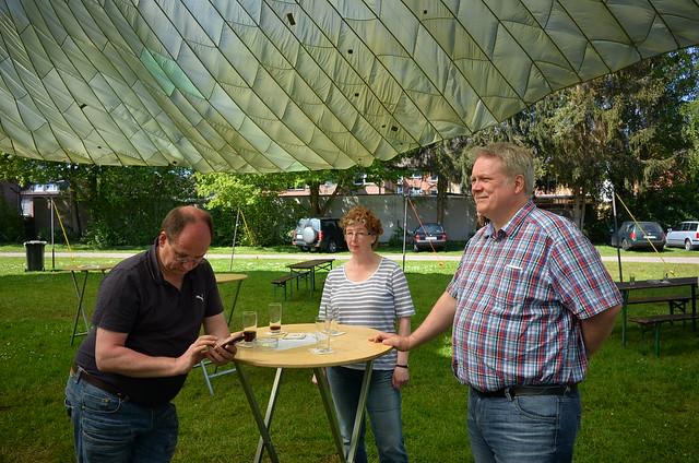 FDP Eschweiler beim Frühschoppen mit Siegerehrung zum Dorfpokalschießen