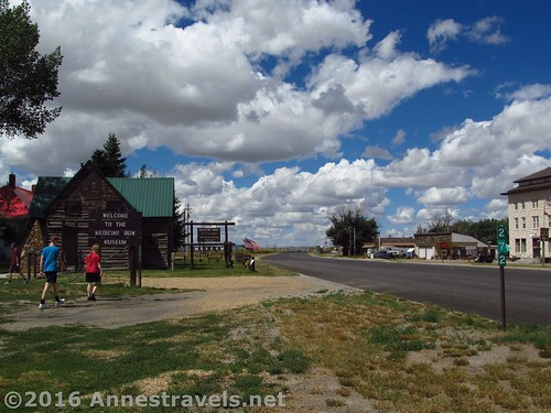The entrance to the Medicine Bow Museum, Medicine Bow, Wyoming