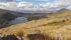 View on Glanmore Lake from Healy Pass, County Kerry, Ireland