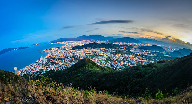 Fisheye Nha Trang from mountain