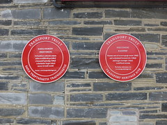 Photo of Ffestiniog Railway red plaque