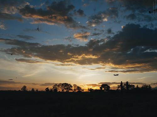sunset clouds airplane landscape evening outdoor landing armenia