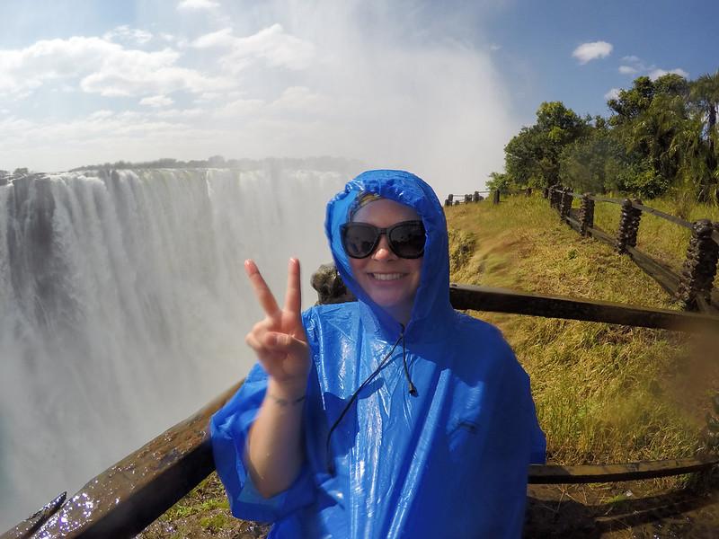 Amanda at Victoria Falls