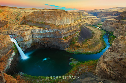 "'LAYERS IN TIME' Palouse Falls"" By Robert Park  http://www.robert-park.com by Robert Park Photography"
