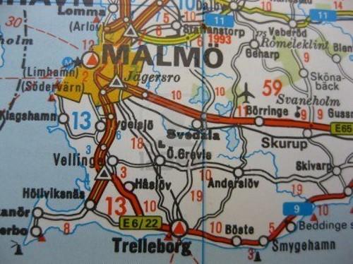Mapa Malmo