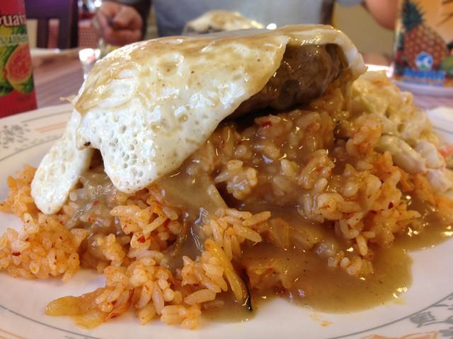 Loco Moco Kimchi Fried Rice