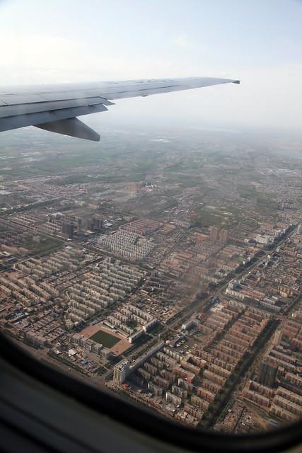 Flying over the suburbs of Urumqi 上空から見たウルムチ郊外