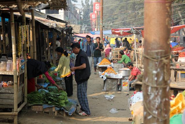 Dimapur market in Nagaland