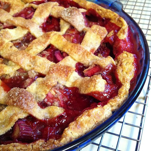 Strawberry Rhubarb pie #gluten-free