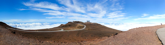 Observatories at Haleakala, Maui.