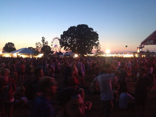 Bonnaroo 2013 - Sun setting Friday night @ That Stage.