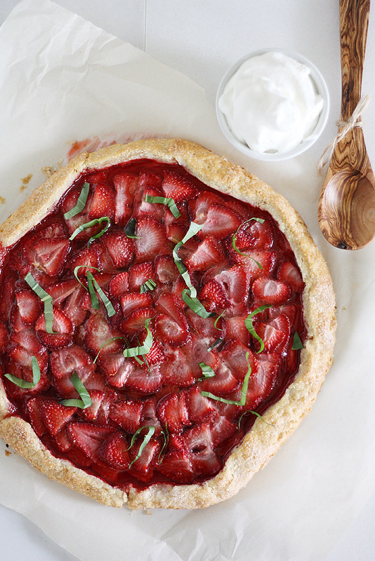 Strawberry Galette | girlversusdough.com @stephmwise