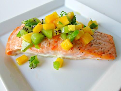 Salmon with Kiwi Mango Salsa 2