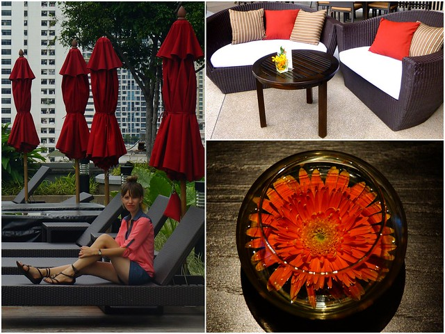 Rooftop terrace at the Amari Watergate