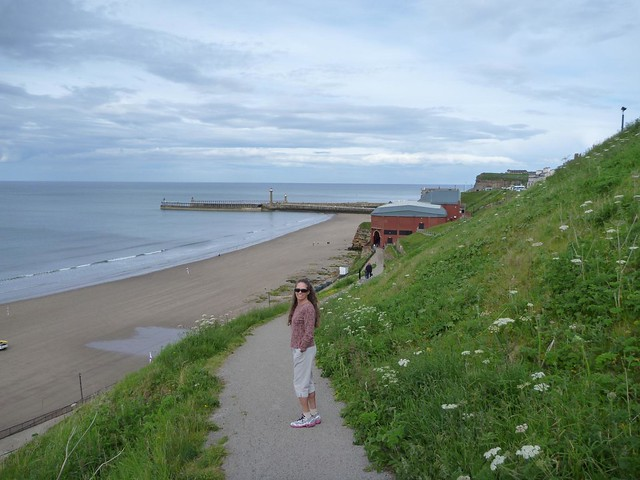 Down to Whitby beach