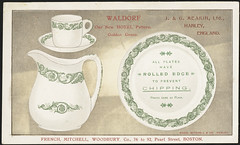 Waldorf. Our new hotel pattern, golden green. J. & G. Meakin, Ltd., Hanley, England. (front)