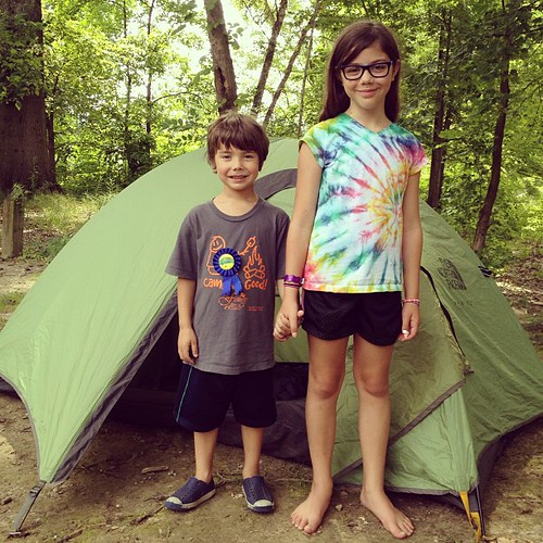 Camping with kids via The Risky Kids
