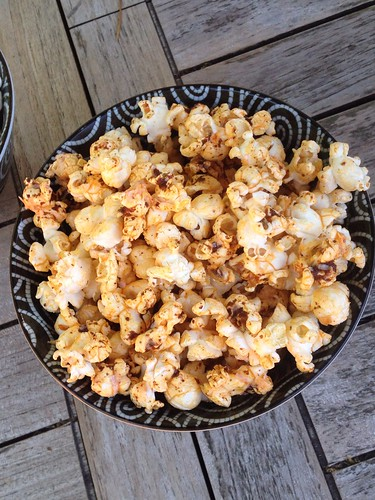 Popcorn with Chili Lime Butter and Cotija