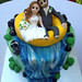 white water wedding cake