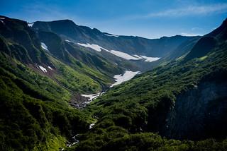 Beautiful views from the Perseverance Trail in Juneau, Alaska