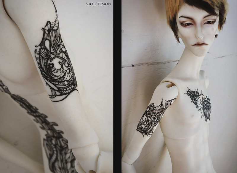 make-up&tattoo for Cyril [Doll-chateau]