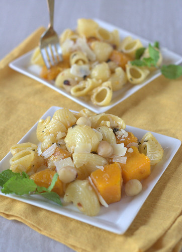 Orecchiette with Squash, Chiles, and Hazelnuts April