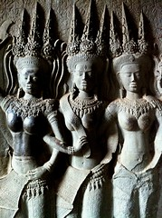 Sexy relief of Apsara dancer at Angkor Wat