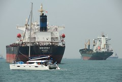 vehicle, ship, sea, bulk carrier, channel, cargo ship, watercraft, boat,