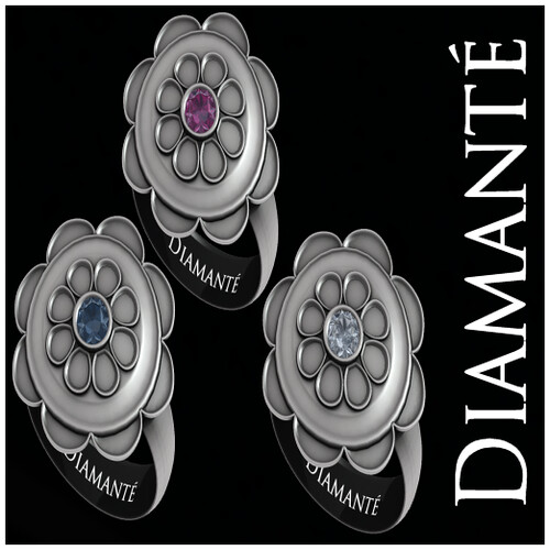 :Diamante: Flower Diamond Solitares - Set by Alliana Petunia