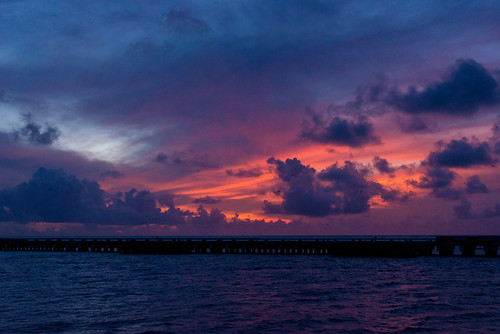 sunset clouds island hawaii pier unitedstates northwest midway atoll