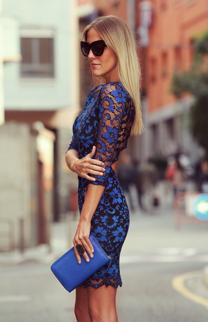 style lover blue lace dress VI
