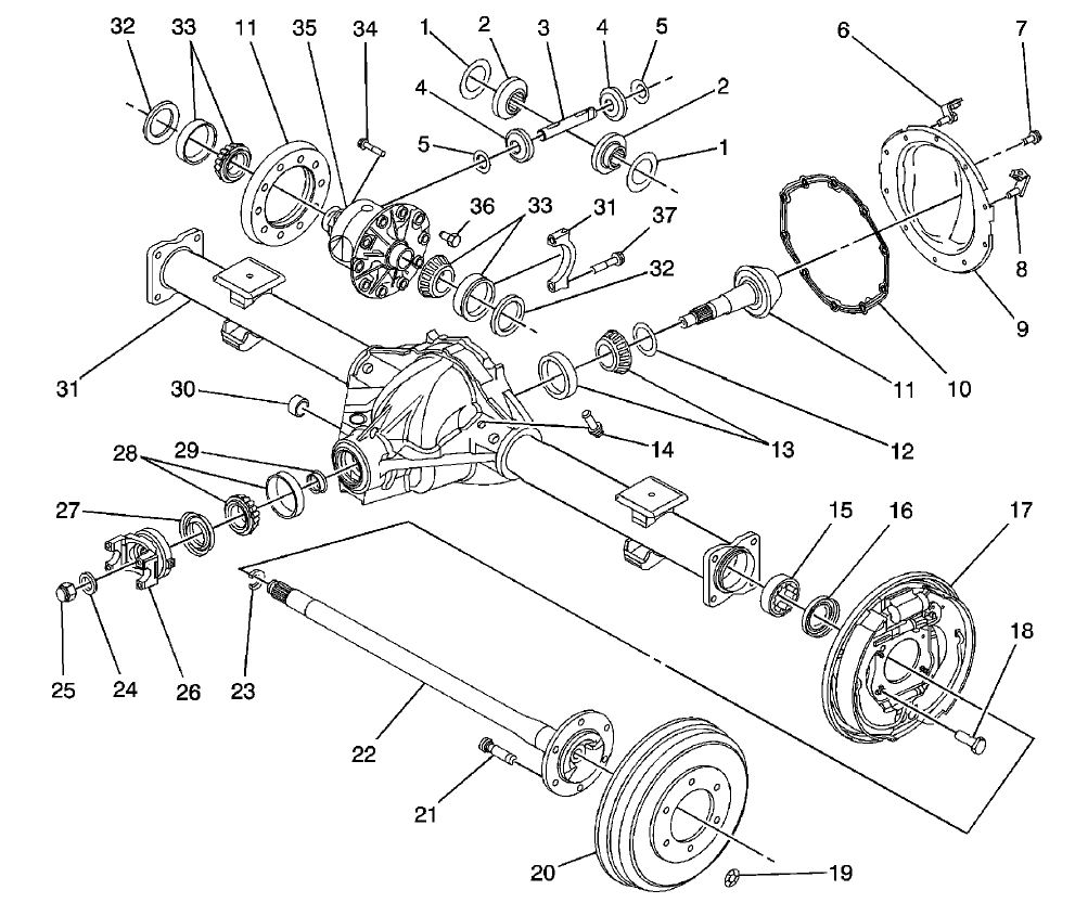 colorado chevrolet differential diagram