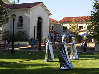 """""""Time Travel"""" by Yozmit, an art performance that took place on Oct. 4, 2013, during the Moving Mind symposium."""