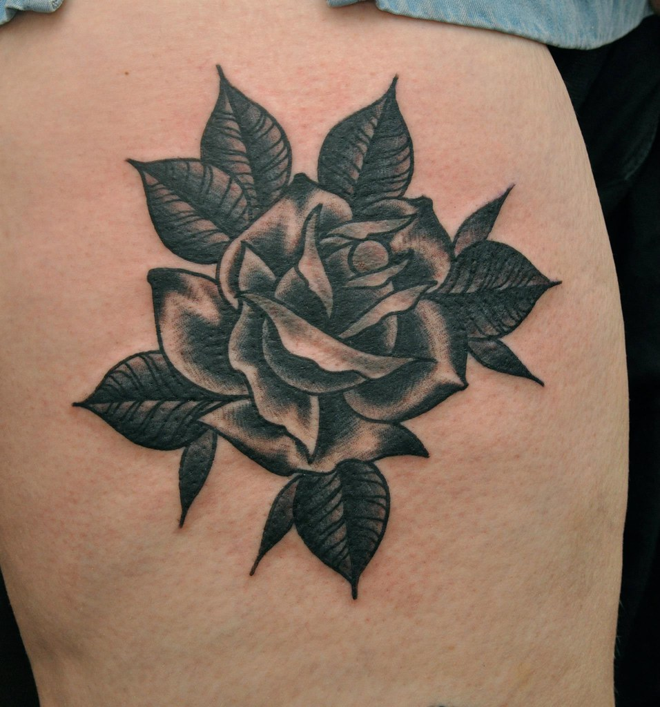 All Sizes Traditional Rose Tattoo Flickr Photo Sharing