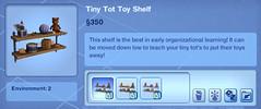 Tiny Tot Toy Shelf