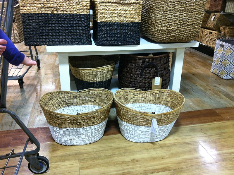 baskets at homegoods