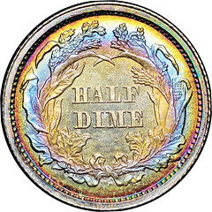 1862 Half Dime reverse