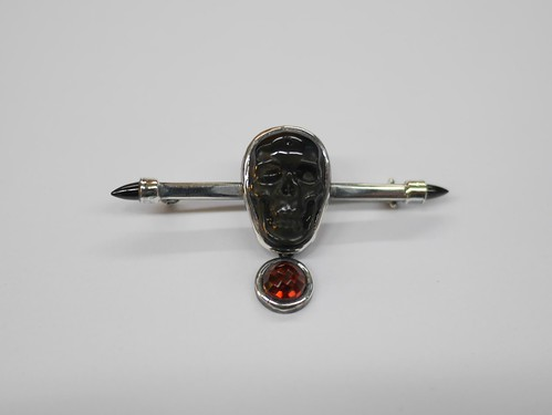 Cravat Pin With Skull