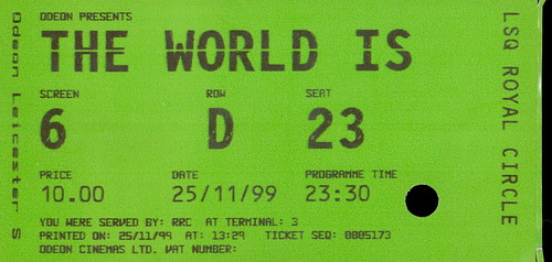 The World Is Not Enough, Leicester Square Odeon 25 November 1999
