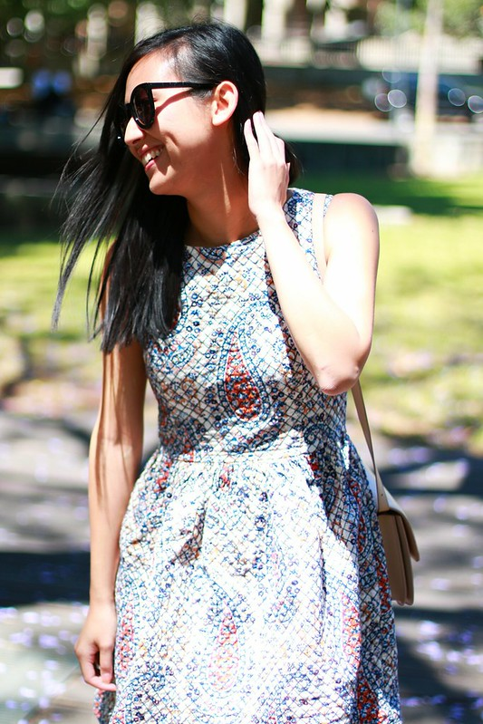 asos paisley quilted dress