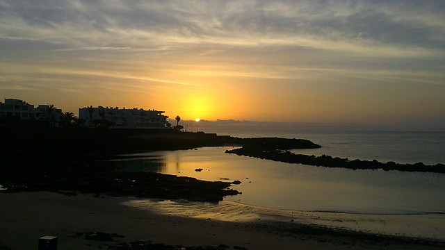 Sunrise in Costa Teguise, Lanzarote