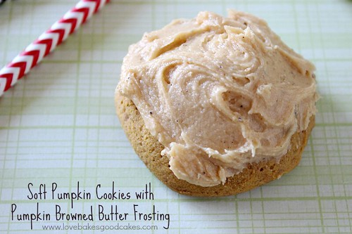 Soft Pumpkin Cookies with Pumpkin Browned Butter Frosting 2