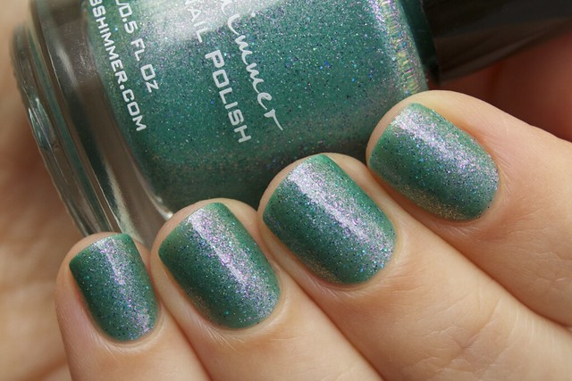 05 KBShimmer Teal Another Tail with 2 coats Eva Mosaic topcoat