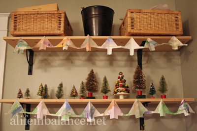 Paper Garland Christmas Tree