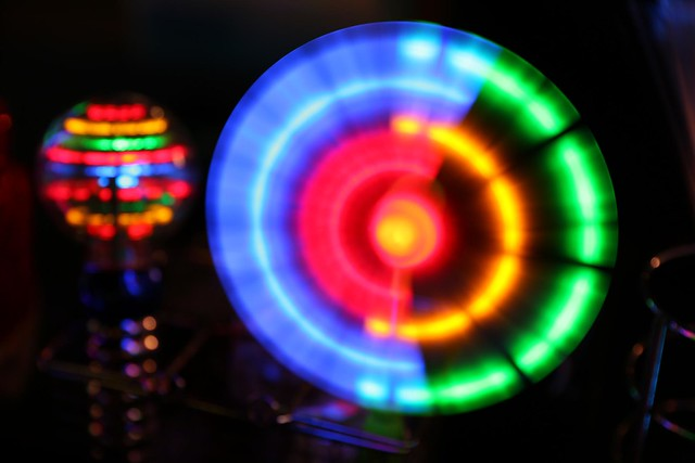 Multi Colour Light wheel toy
