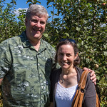 Gary and Michele at the apple farm