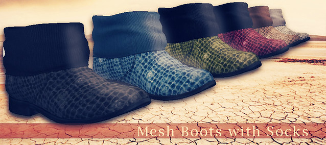 Mesh Boots with Socks AD