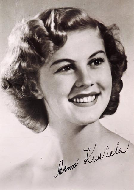 Armi Kuusela  Miss Universum 1952 from Finland  from my postcard    Armi Kuusela