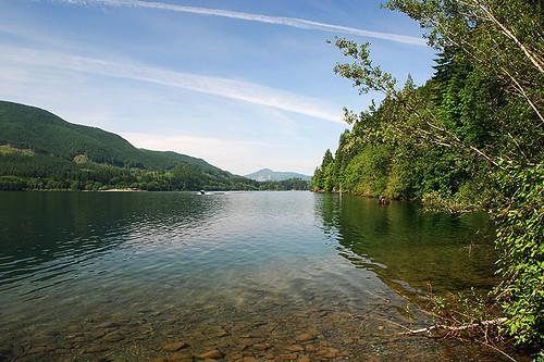 Little Shaw Campsite on Cowichan Lake near Lake Cowichan, Vancouver Island, British Columbia